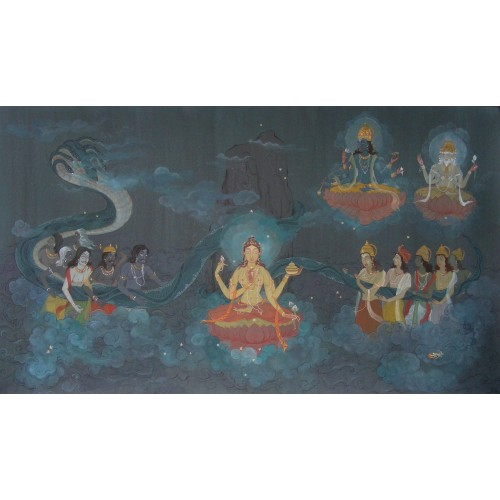 Samudra Manthan (Churning of the Ocean by the Gods and the Demons)
